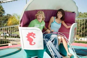 Man and Woman on a Carnival Ride