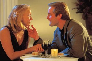 Man and Woman having an intimate dinner