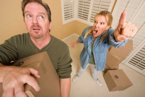 Woman angry at her husband